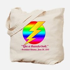 Justice Like a Thunderbolt Tote Bag