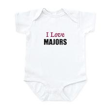 I Love MAJORS Infant Bodysuit