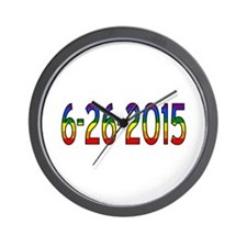 Gay Marriage Legal Date - 6-26-2015 Wall Clock