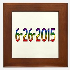 Gay Marriage Legal Date - 6-26-2015 Framed Tile