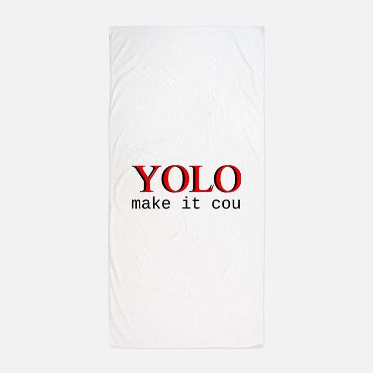 YOLO Beach Towel