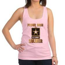 Proud Mom of a US ARMY soldier Racerback Tank Top