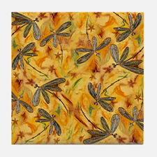 Dragonfly Flit Warm Breeze Tile Coaster