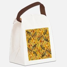 Dragonfly Flit Warm Breeze Canvas Lunch Bag