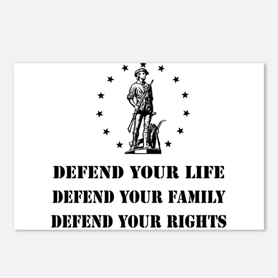 Defend Your Rights Postcards (Package of 8)