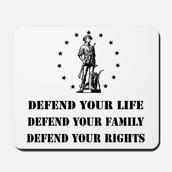 Defend Your Rights Mousepad