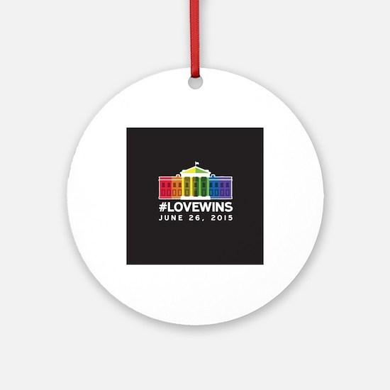 #LoveWins Ornament (Round)