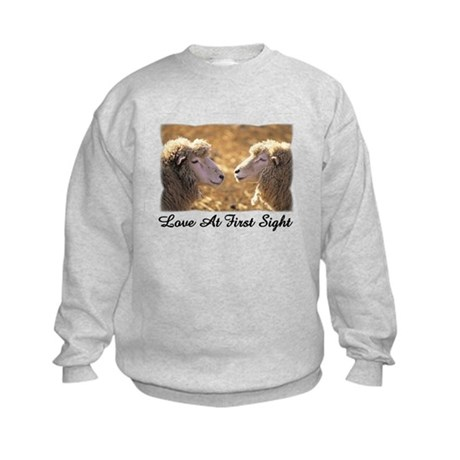 Love At First Sight Kids Sweatshirt