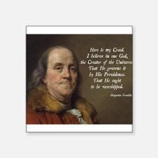 "Cute Founding fathers Square Sticker 3"" x 3"""