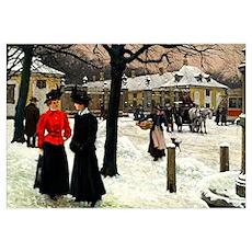 At Frederiksberg Rundel, fine art vintage painting Poster