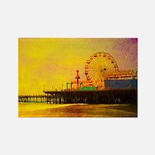 Yellow Santa Monica Pier Magnets