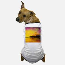 Yellow Santa Monica Pier Dog T-Shirt