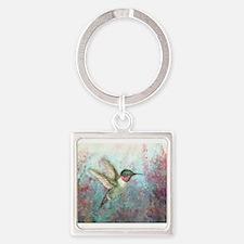 Unique Hummingbird Square Keychain