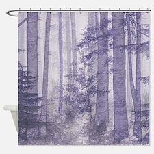 Purple Misty Forest Shower Curtain
