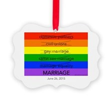 Marriage June 26, 2015 Ornament