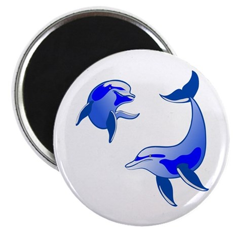 Swimming Dolphins Magnet