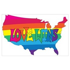 GAY MARRIAGE LOVE WINS Poster