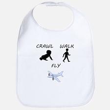 Crawl Walk Fly Bib