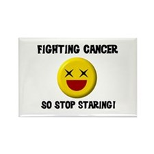Fighting Cancer Rectangle Magnet