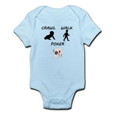 Crawl Walk Poker Body Suit