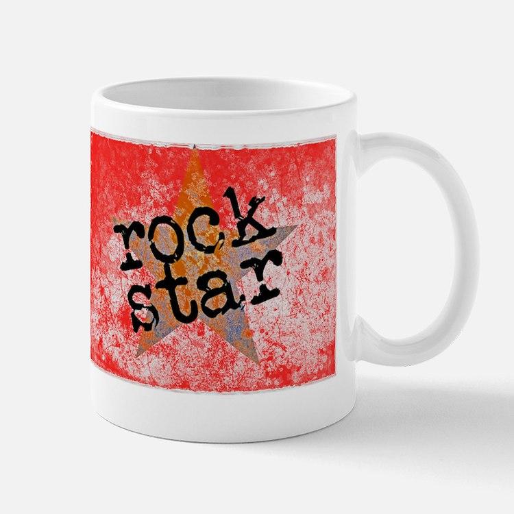 ROCK STAR ROCKING VINTAGE RED Mug
