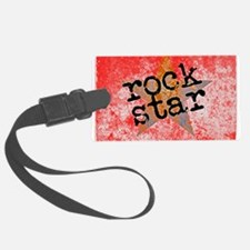 ROCK STAR ROCKING VINTAGE RED Luggage Tag