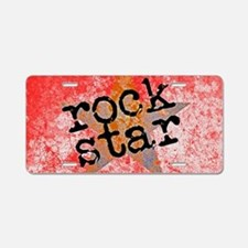 ROCK STAR ROCKING VINTAGE R Aluminum License Plate