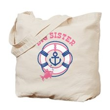 Nautical Big Sister Tote Bag