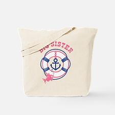 Nautical Big Sister Tote Bag