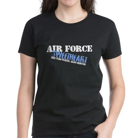 She who waits: Air Force Swee Women's Dark T-Shirt