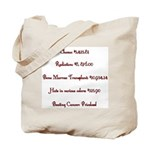 Beating Cancer Tote Bag