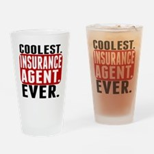 Coolest. Insurance Agent. Ever. Drinking Glass