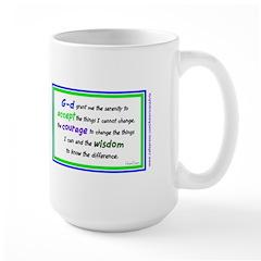 Serenity Prayer Blue Large Mug