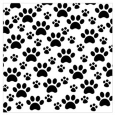Dog Paws Poster