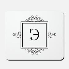 Russian letter E eh Monogram Mousepad