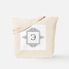 Russian letter E eh Monogram Tote Bag