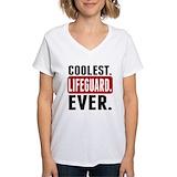 Lifeguard Womens V-Neck T-shirts