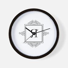 Russian Y ya yah letter Monogram Wall Clock