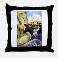 The Reluctant Dragon by Maxfield Parr Throw Pillow