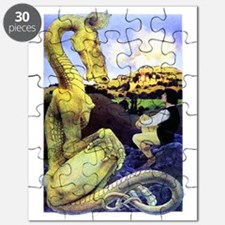 The Reluctant Dragon by Maxfield Parrish Puzzle