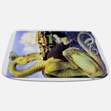 The Reluctant Dragon by Maxfield Parrish Bathmat