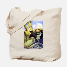 The Reluctant Dragon by Maxfield Parrish Tote Bag