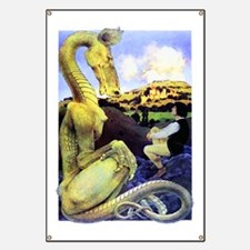 The Reluctant Dragon by Maxfield Parrish Banner