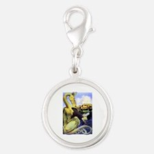 The Reluctant Dragon by Maxfie Silver Round Charm