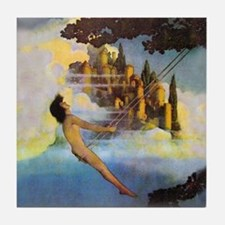 Dinky Bird by Maxfield Parrish Tile Coaster