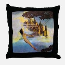 Dinky Bird by Maxfield Parrish Throw Pillow