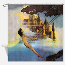 Dinky Bird by Maxfield Parrish Shower Curtain