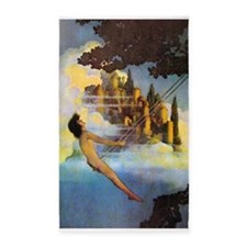 Dinky Bird by Maxfield Parrish Area Rug