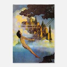 Dinky Bird by Maxfield Parrish 5'x7'Area Rug