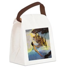 Dinky Bird by Maxfield Parrish Canvas Lunch Bag